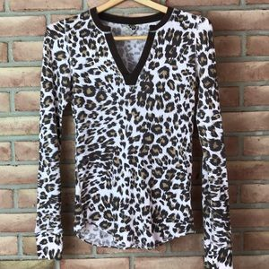 Lucky Brand size M animal print, long sleeved top